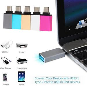 "USB-C 3.1 Type C Male to USB 3.0 Female Adapter for MacBook 12"" (Silver)"