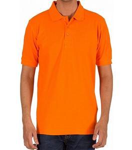 Orange Plain Polo T-Shirt For Men