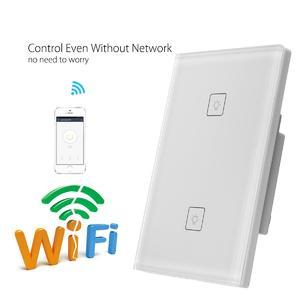 5pcs Zigbee WIFI Smart Wall US Switch Touch Panel APP Control w/ Alexa Google Home