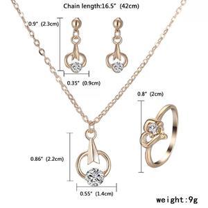 women Jewelry Set arrow pendant necklace Dangle Earrings Gold Jewelry Set