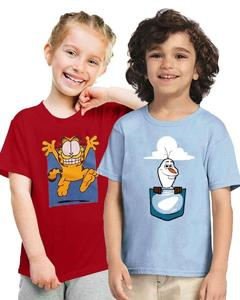 Multicolor Cotton Characters Kids T-Shirts Combo - Pack of 2