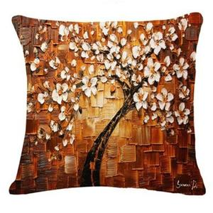 Tree Leaves Sofa Bed Home Decoration Festival Pillow Case Cushion Cover