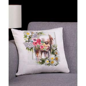 Multi Color Cotton Canvas UNI-5 Cushion Cover