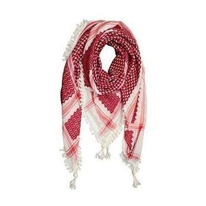 Blended Cotton Arabic Head Scarf For Men - Red & White