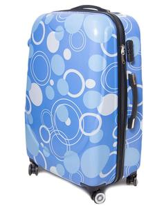 Bubble Printed Trolley BagSky Blue Poly Carbonate