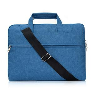 Portable One Shoulder Handheld Zipper Laptop Bag, For 15.4 inch and Below Macbook, Samsung, Lenovo, Sony, DELL Alienware, CHUWI, ASUS, HP (Blue)