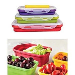 shopee.pkPack Of 3 - Portable Folding Silicone Lunch Box
