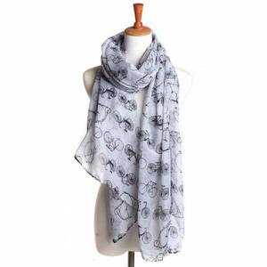 BlingBlingStarWomen Ladies Bicycle Pattern Print Long Scarf Warm Wrap Shawl
