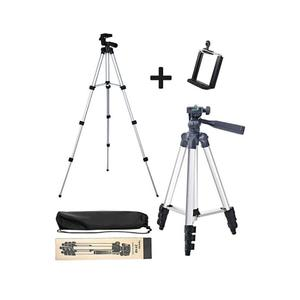 3110 - Tripod Stand For Camera And Mobile - Black & Silver 3110, 3120, 3888, 330A Tripod Stand