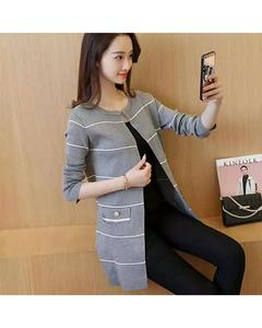 Grey Lining Coat For Women