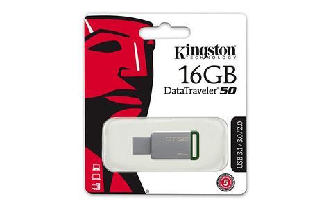 Kingston 3.1 USB Flash Drive - DT50/16GB - Silver