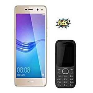 "Huawei Y5 (2017) - 5"" - 2GB RAM - 16GB ROM - Dual SIM - Gold with FREE Mobo M3 Feature Phone"