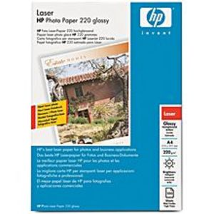 HP Q6614A - HP A4 Glossy Photo Paper for Laser Printer - 100 Sheets 220gm