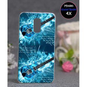 Xiaomi Redmi 4X Mobile Cover Guitar Style - Blue