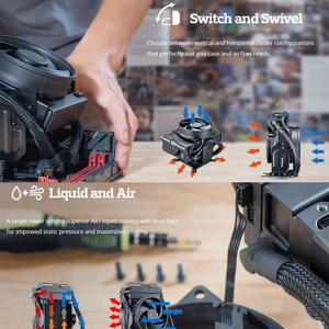 Vktech- Water Cooling CPU Cooler Air and Liquid Cooling Fan for Intel LGA 2011-V3