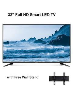 32 inch Slim LED TV With Free Wall Stand-Full HD Smart  Slim Tv- Double Mirror Protector - Non Breakable Screen