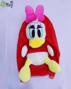 Daphne Duck Velvet School Bag for Kids