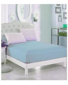 Sky Blue Jersey Fit100% Cotton Bed Sheet - Single Bed