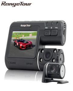 Travel Range Dual Camera DVR I1000 HD 1080P Dual Lens Dash Cam Video