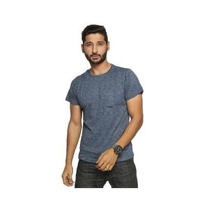 Blue Jersey Printed T-Shirt for Men