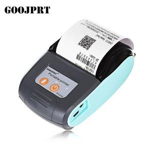 PT - 210 58MM Bluetooth Thermal Printer Portable Wireless Receipt Machine For Windows Android IOS EU Plug - Light Blue