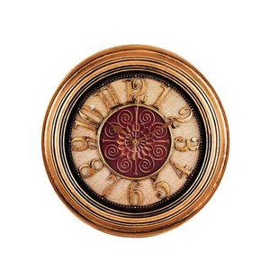 Antique Hollow Wall Clock - Bronze - 14x14