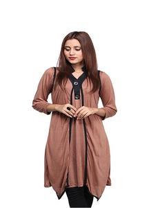 Shrug Style Stylish Kurti For Women Brown