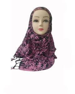 AT Fashions Pink & Black Nylon Leopard Print Scarf for Women