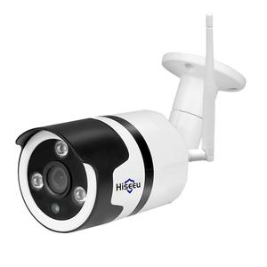 Hiseeu WiFi Outdoor Camera Waterproof Two Way Audio Bullet Cam (US)(1080P)
