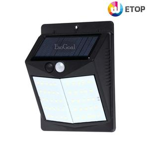 Outdoor Lighting LED Solar Wall Light Waterproof Motion Sensor Light Wireless Solar Powered Wall Lamp Outside Security Night Light for Driveway Patio Garden Path (50 LED)