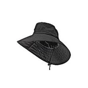 Best fashionOutdoor Sun Hat With Adjustable Strap - Black