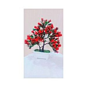 SV Traders Red Bonsai Tree Decoration Piece