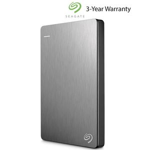 Seagate 1TB Backup Plus Slim Portable External Hard Drive - Silver