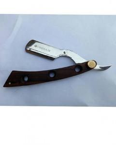 Wooden Straight Razor Barber Cutthroat Shaver Changeable Blades Hole Razor