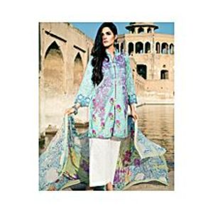 NimsayBlue Lawn & Chiffon Embroidered Suit for Women