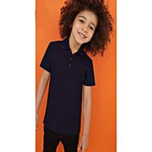 Outlook FashionFashion Single Jersey T Shirt For Kids-Dark Navy & Allover Print-BE4523
