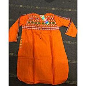 StoreNStoreLolly Pop Embroidered Orange Kurti For Women
