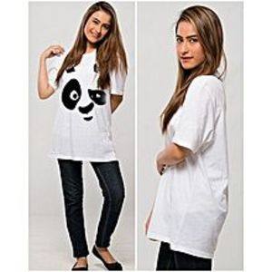 Fashion FactoryPanda White Printed T-Shirt For Her