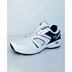 Pristine Blue-Black & White Cricket Gripper Shoes For Men