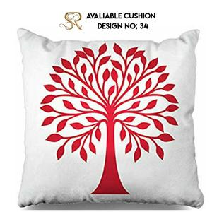 RED TREE VELVET CUSHION COVER