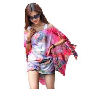 Women Chiffon Sunscreen Scarf High Quality Brand Big Size Printed Silk Scarf