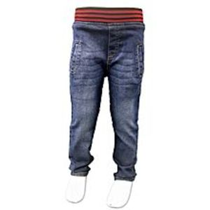 Tiny Tods Blue Soft Denim Round Elastic Jeans For Boys