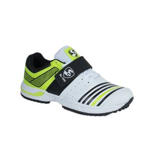 White & Green Synthetic Sports Shoes for Men