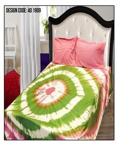 Bedsheet Pure Cotton 4D Quality King Size Multicolour