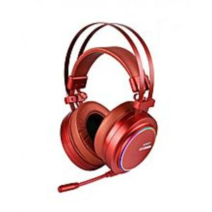 AUKEY GH-S5 USB Noise Isolating & Volume Control Gaming Headset w/ Virtual 7.1-Channel Surround Sound and RGB Light for PC/PS4 - Red