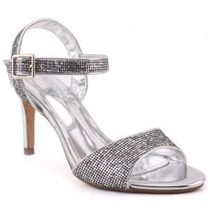 "Women ""Lavinia"" Ankle Strap Sequenced Open Toe Stiletto Heel Sandals   L31727"