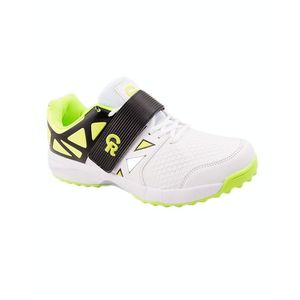 White & Green CR Synthetic Sports Shoes for Men