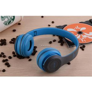 Professional Stereo P47 Wireless Bluetooth Headphones for Gaming high quality sound - blue