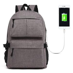 Universal Multi-Function Oxford Cloth Laptop Shoulders Bag Backpack with External USB Charging Port, Size: 46x32x12cm, For 15.6 inch and Below Macbook, Samsung, Lenovo, Sony, DELL Alienware, CHUWI, ASUS, HP(Grey)