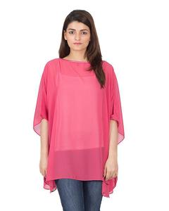 Valerie's poncho is an outerwear Soft & light weight chiffon top/tunic without lining